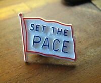 Set The PACE Lapel Pin - Vintage Program All Inclusive Care Elderly Badge Pin