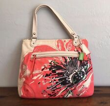 COACH $298 Poppy Pop C Place Splashed Flower Glam Shoulder Bag Tote Purse