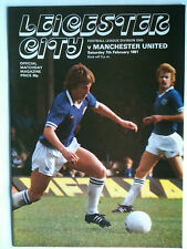 MINT 1980/81 Leicester City v Manchester United 1st Division