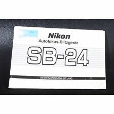 Nikon speedlight sb-24af manual de instrucciones/manual de instrucciones/Guía de