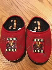 Iron Man 2 by Buster Brown Casual Bedroom Slippers Loafers Boys Shoes Size 2 3 #