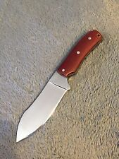 KNIFE D2 BUSHCRAFT CUSTOM HANDMADE USA BLOOD RED MICARTA SCALES