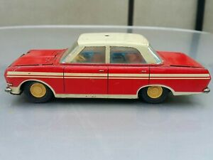 VINTAGE EHRI OPEL RECORD REDFIRE TIN TOY CAR VEB RALLEY DDR GDR FRICTION GERMANY