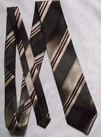 Tie TOOTAL Vintage Mens Necktie Retro 1970s 1980s GOLDEN BROWN STRIPED STRIPES