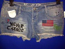 """vanilla star """"never change"""" freedom / daisy duke styled denim shorts pick size"""