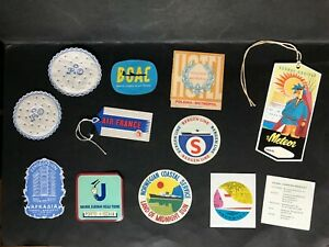 TRAVEL & LUGGAGE LOT OF ITEMS VINTAGE STICKERS & LABELS ETC