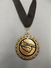 "airplane pilot medal black neck drape 2"" diameter"