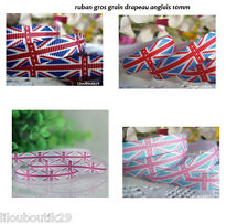 Ruban gros grain drapeau anglais UK 10 mm couleurs mixtes