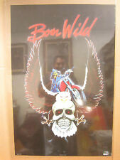 Vintage Born Wild rider biker reaper skull poster 1770