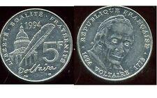 5 francs  1994 VOLTAIRE