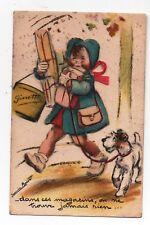 Carte postale animée GERMAINE BOURET Dans ces magasins on ne trouve jamais rien