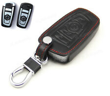 Leather Case Cover Holder For BMW 1 5 7 Series Remote Smart Key 4 Button F10 F20