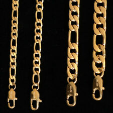 18K Gold triple Plated stainless steel Figaro Chain Necklace fade resistant