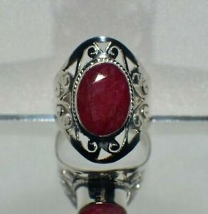 7.00 ct. NATURAL GENUINE AFRICAN RED RUBY STATEMENT TRIBAL GYPSY RING