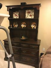Authentic Hitchcock Fenwick open Hutch top on matching dresser