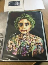 The Joker Heath Ledger Tattoo Print By Artist Little Sam