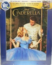 Cinderella (2015) -  Best Buy Steelbook 4K UHD, Blu-Ray, Digital Copy - New