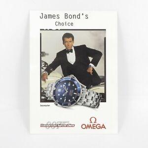 GENUINE OMEGA JAMES BOND 007 TOMORROW NEVER DIES 1997 WATCH ADVERTISING POSTCARD