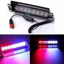 12V 8 LED Car Truck Dash Strobe Flash Light Emergency Police Warning 3 Modes