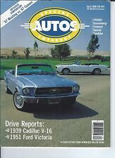 SPECIAL INTEREST AUTO - #92 / 1967 Mustang / 1967 Camero / 1938 Cadillac V-16 ++