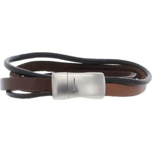 Bespoke  Mens Brown Leather Boho Casual Bracelet O/S BHFO 7519