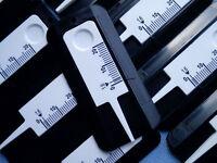 10x Reifenprofilmesser Tiefenmesser Profiltiefenmesser 1-20mm schwarz / weiß