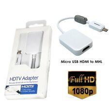 Micro USB MHL 2.0 To HDMI HDTV Cable Adapter For Samsung Galaxy Tab S5 Note 3 4