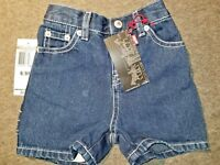 Levi's Boy's Jeans for  Jean Shorts Size 6-9 Months NWT
