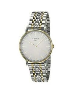 Tissot Swiss Made T-Classic Everytime Medium 2 Tone Gold Plated Men's Watch