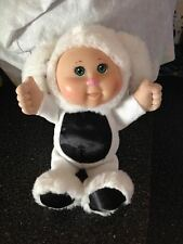 CABBAGE PATCH KIDS CPK BABY Black & White Easter Bunny Outfit Plush Doll SO CUTE