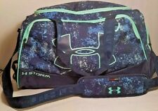 Under Armour Storm Duffel Bag Black Green Blue Protect this House