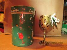 Lolita Mini Hand Painted Wine Glass Ornament - Leopard - New In Box