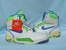 Vintage 1990 Nike Air Solo Flight 90 White/Royal Blue-Scream Green Size 9 RARE!