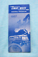 Linje Buss General Program 1957 - Map - Fares - Tours