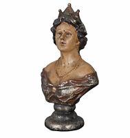 Frauenbüste Antik Büste Biedermeier Skulptur Shabby Chic Figur Königin Dekokopf
