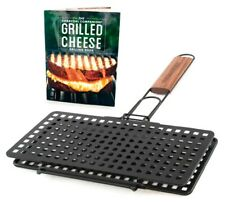 New Charcoal Companion Grilled Cheese Basket & Grilled Cheese Grilling Book