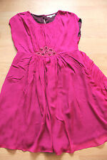 BODEN Jewelled magenta Georgette dress size 8L really nice