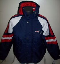 NEW ENGLAND PATRIOTS STARTER PRO LINE Hooded Winter Jacket S, M, L, XL,BLUE