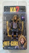 "KICK ASS 2 Figure HIT GIRL UNMASKED 7"" Tall by NECA / REEL TOYS - KA2 HIT-GIRL"