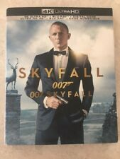 007 James Bond Skyfall 4K Ultra HD & Blu-Ray w Slipcover Canada NO DC LOOK