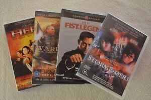 Jet Li/Martial Arts DVDs Region 1 & 4 Hero Warlords Fist Of Legend & Stormriders