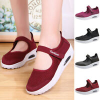 Women's Fashion Casual Breathable Lightweight Wedges Shoes Sport Running Shoes