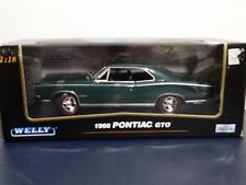 Welly 1966 Pontiac GTO 1:18 Scale Die Cast Model Muscle Car Green