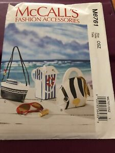 McCalls Fashion Accessories M6761 Pattern Fish Boat & Changing House Lined Bags