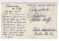 1914 Swinemunde Germany, Kaiserliche Marine Kommando Briefstempel SMS Hansa Ship