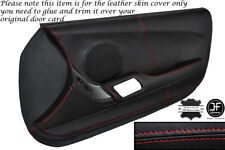 RED STITCH 2X FULL DOOR CARD LEATHER SKIN COVER FITS TOYOTA SUPRA MK4 93-02