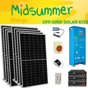 4kW Off-Grid Full Solar Charger Kit - 10kWh Lithium - 5kVA Victron MPPT/Inverter