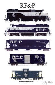 "Richmond Fredericksburg Potomac Train 11""x17"" Poster Andy Fletcher signed"