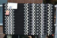 "Mayatex Nova Oversize Show Saddle Blanket Pad 40"" x 34"" -Black/Silver/Grey/Cream"