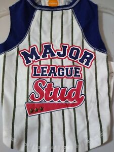 """Simply Dog Jersey Tank/ Tshirt """"Major League Stud"""" New With Tags XXS 7""""-10"""""""